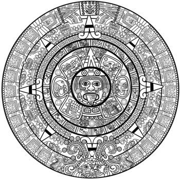 Calendario Maya Vector.Pinterest Espana