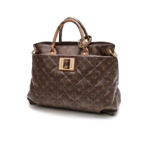 f6ad56faf115 Pre-Owned Louis Vuitton Limited Edition Monogram Etoile Exotique Tote GM Bag  featuring polyvore women s fashion bags handbags tote bags brown louis  vuitton ...