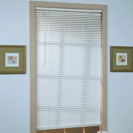 Deluxe Sundown 1 Inch Room Darkening Mini Blinds White Vinyl Blinds Primitive Dining Rooms Mini Blinds