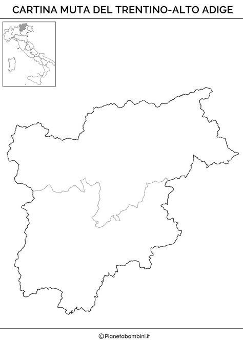 Cartina Muta Del Trentino Alto Adige.7 Idee Su Italia Geo Geografia Politica Istruzione