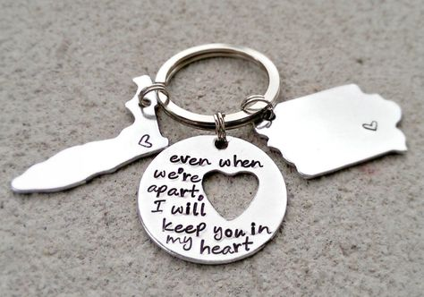 Keep you in my Heart  Long Distance by SweetAspenJewels on Etsy, $28.00