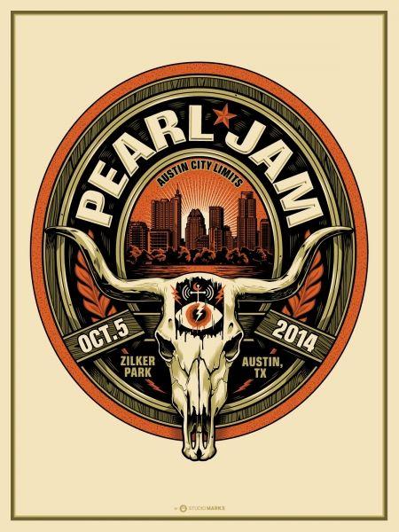 Pearl Jam 2014 tour poster