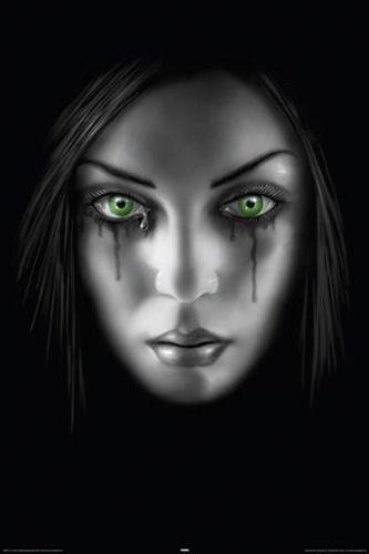 $10.99 AUD - Anne Stokes Poster Face Weeping Blood Tears Gothic #ebay #Collectibles