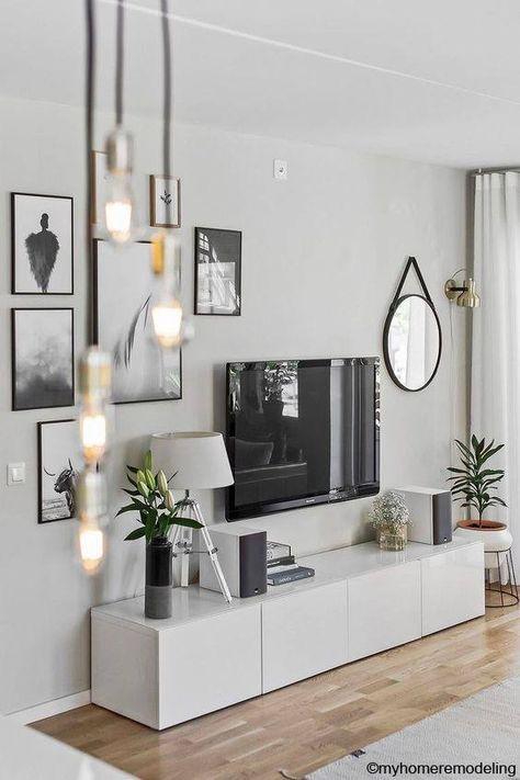 Wohnzimmer ideen - wandgestaltung mit bildern - #Apartment