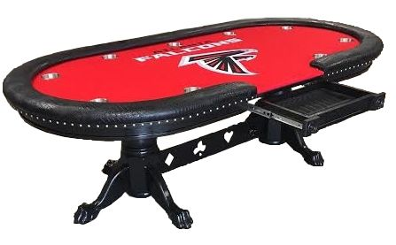 Atlanta Falcons Custom Poker Table Custom Poker Tables Poker Table Poker