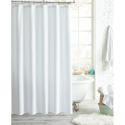 The Twillery Co Luther Shower Curtain Color White Peri Home