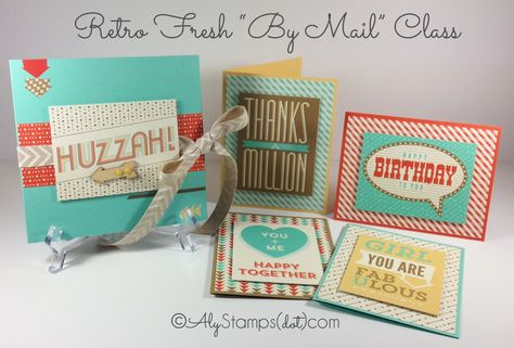 Retro Fresh Mini Album w/Fun Fold Pages & Cards - Video on the Blog