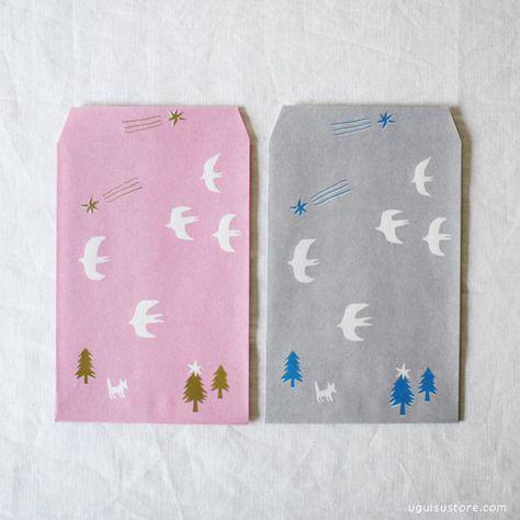 ai. Paper Pocket/Envelope {Bird}   UGUiSU Online Store
