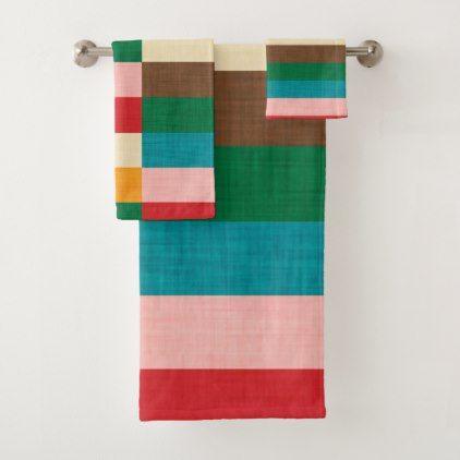 Kilim Bath Towel Set Zazzle Com Towel Set Bath Towels Bath