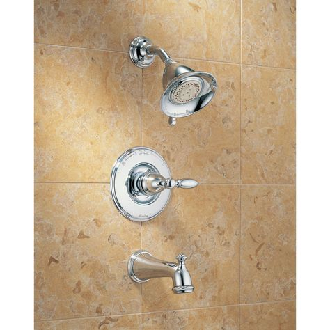 Delta Traditional Victorian Chrome Finish 14 Series Tub And Shower