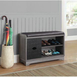 Narrow Shoe Storage Bench Wayfair Bench With Shoe Storage