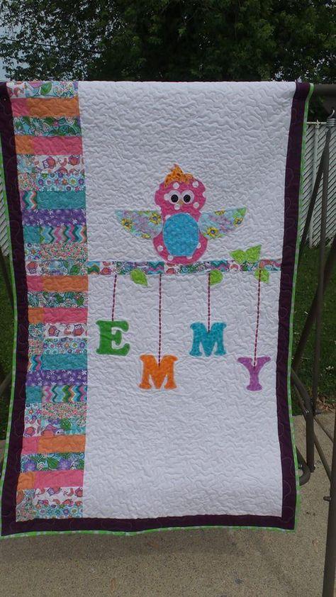 Quilt Patronen Baby.Owl Quilt Baby Quilts Baby Dekbed Patronen