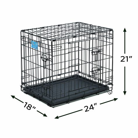 Small Dog Bed Small Dog Crate Midwest Life Stages 24 Double Door