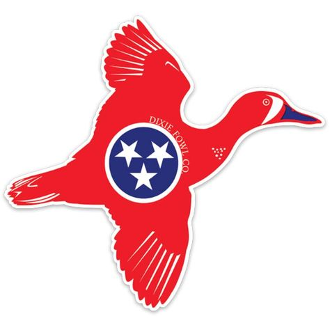 Tennessee Teal Dixie Fowl Co. Decal