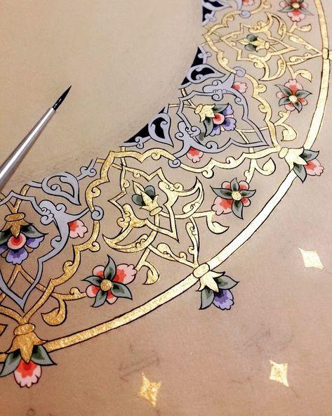 Keep A Sketchbook And Have Fun - Drawing On Demand Islamic Art Pattern, Arabic Pattern, Pattern Art, Fabric Painting, Painting & Drawing, Illumination Art, Islamic Art Calligraphy, Calligraphy Alphabet, Celtic Art