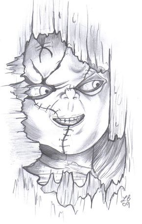 Chucky Drawings Chucky By Lbalch86 Scary Drawings Drawings