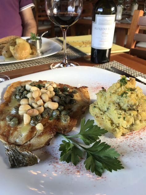 Truta deliciosa no restaurante Cerejeira em Flor