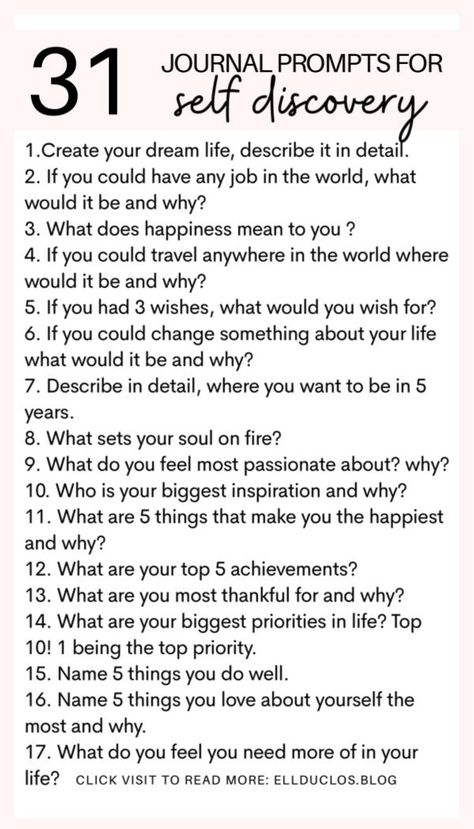 I have a self discovery journaling challenge for you. This challenge is going to encourage you to dig deep into what you want most out of your life. Have you ever wondered what your purpose in life is? What you are meant to do? Maybe right now you feel lost. These self discovery journal prompts are going to help you find yourself.