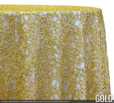 Swirl Chain Lace Tablecloths & Overlays