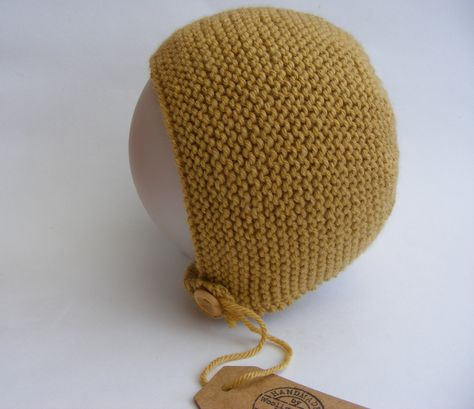 Hand Knitted Baby Bonnet 11fcd501fa8