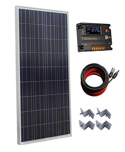 Eco Worthy 150w Polycrystalline Off Grid Solar Panel Kit With 20a Auto Switch Lcd Intelligent Regulator Charge Solar Panels Best Solar Panels Solar Panel Kits