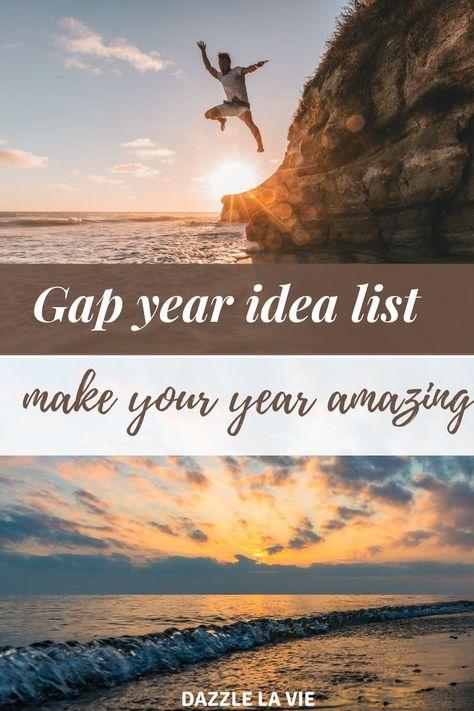 Gap year idea list – make your year amazing
