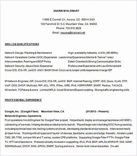 Network Engineer Resume Sample Beautiful Emphasize Your Skills In Your Network Engineer Resume Network Engineer Resume Template Job Resume Samples