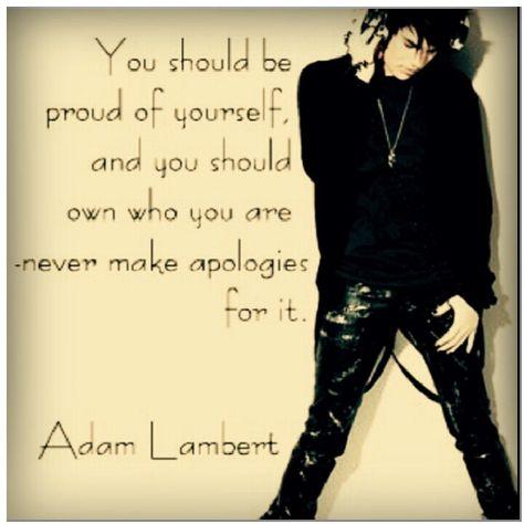 adam lambert idézetek Adam Lambert (idézetek, képek)