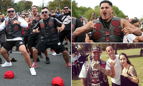 Mongrel Mob performs moving haka outside New Zealand mosque