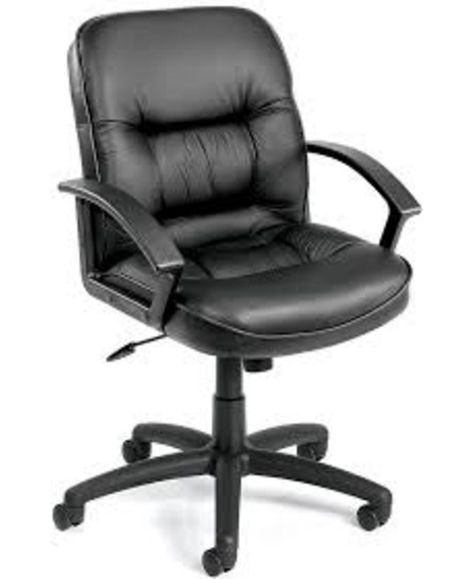 Boss Office Products Metro Club Desk Chair Black Desk Chair Leather Chair Best Chair For Posture