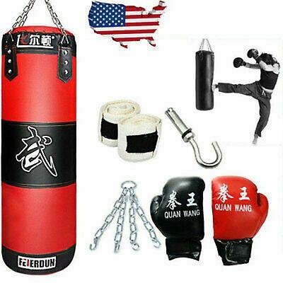 Full Heavy Boxing Set Empty Punching Bag Gloves Training Mma Taekwondo Workout In 2020 Boxing Punching Bag Punching Bag Gloves Boxing Punches