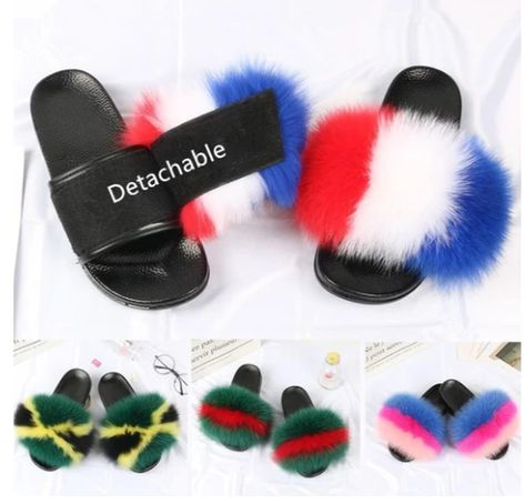 {5-7 days wait for make} Detachable Versatile Real Fur Slides F1227