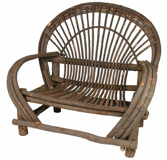 Rustic Bent Wood Twig Loveseat With Bark Twig Furniture Rustic Furniture Diy Bent Wood