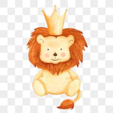 Cute Cartoon Lion Toy In Crown Lion King Clipart Crown Animal Png And Vector With Transparent Background For Free Download Cartoon Lion Baby Art Cartoon Kids