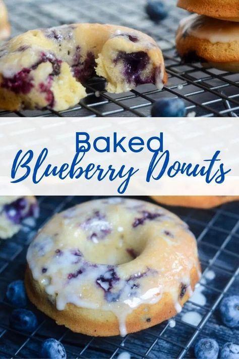 Blueberry Cake Donuts Recipe, Cake Donut Recipe Baked, Mini Donut Recipes, Easy Donut Recipe, Baked Doughnuts, Donuts Donuts, Mini Donuts, Pampered Chef Recipes, Delicious Donuts
