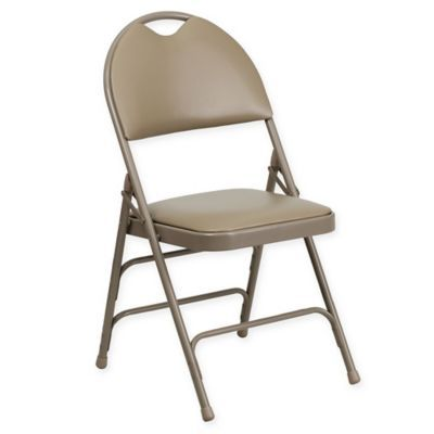 Flash Furniture 34 5 Metal Folding Chair With Padded Seat In