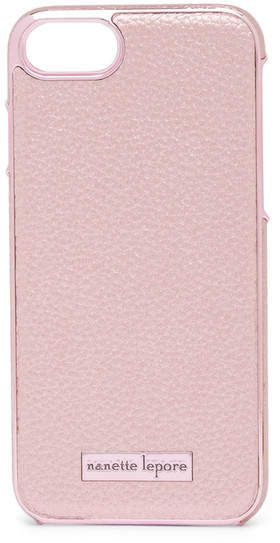 online retailer 97d0a c67ed Nanette Lepore Rose Gold Pebbled Faux Leather iPhone 6/6S/7/8 Case ...
