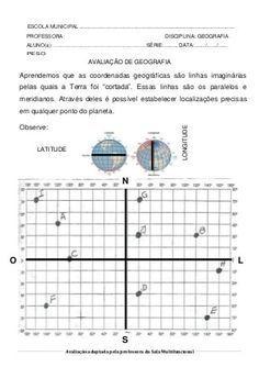 Avaliacao Geografia Con Imagenes Ensenanza De La Geografia
