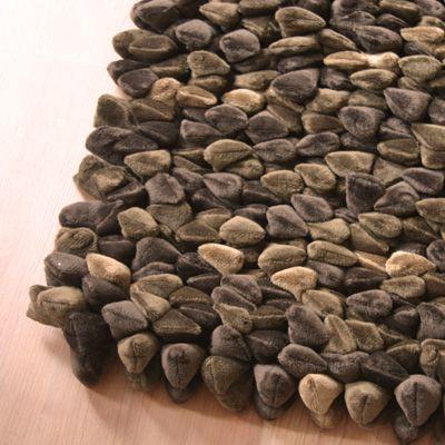 Chocolate Chamois Pebble Rug