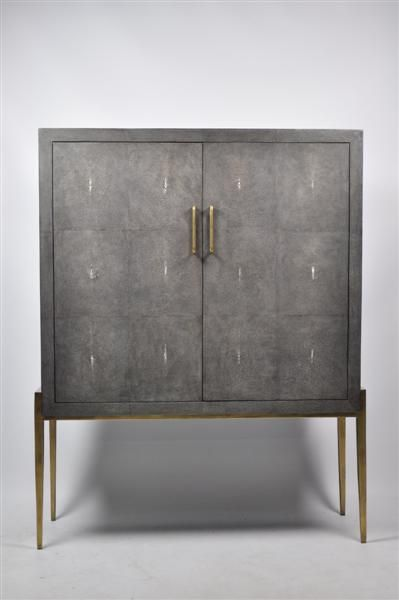 ginger brown furniture, shagreen furniture, exclusive cabinet ...