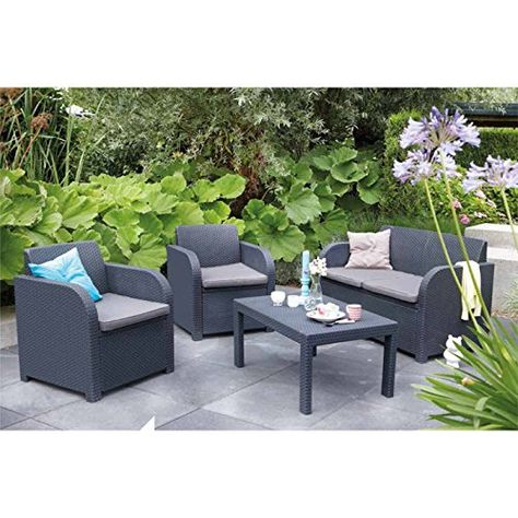 Keter Allibert Carolina Lounge Set Price Β£189,95 Rattan Sofas - gartenmobel polyrattan grau