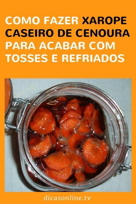 xarope de cenoura com cebola