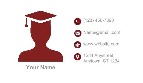 Student Business Cards Student Education Business Card - Student business card template