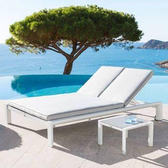 Titanium Salon De Jardin Table Chaise