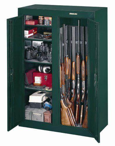 Gun Security Cabinet >> Stack On Gcdg 9216 16 Gun Convertible Double Door Steel Security