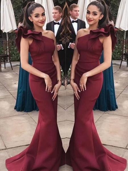 Vestidos Lindos En 2019 Vestidos Color Vino Vestidos Vino