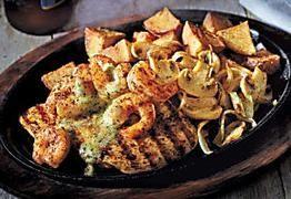 Applebee S Onion Peels Bourbon Chicken And Shrimp Recipe Chicken And Shrimp Recipes Applebees Bourbon Street Chicken Recipe