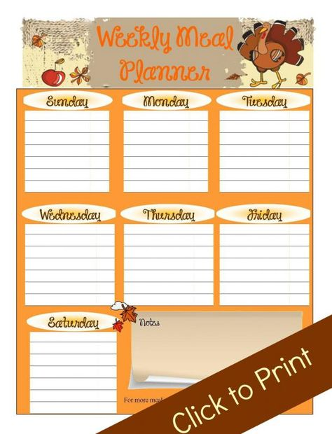 free printable meal planner: Crystal and Co.