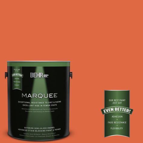Behr Marquee 1 Gal P200 7 Bonfire Night Semi Gloss Enamel