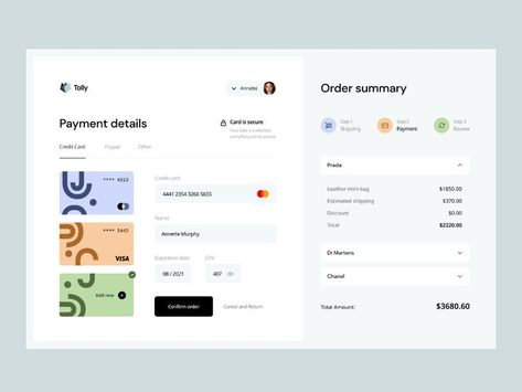Tolly: payment details